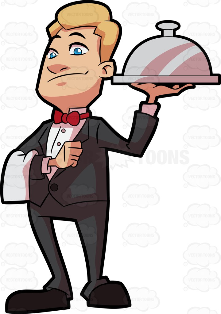 Waiter carrying tray clipart picture free Picture Of Waiter   Free download best Picture Of Waiter on ... picture free