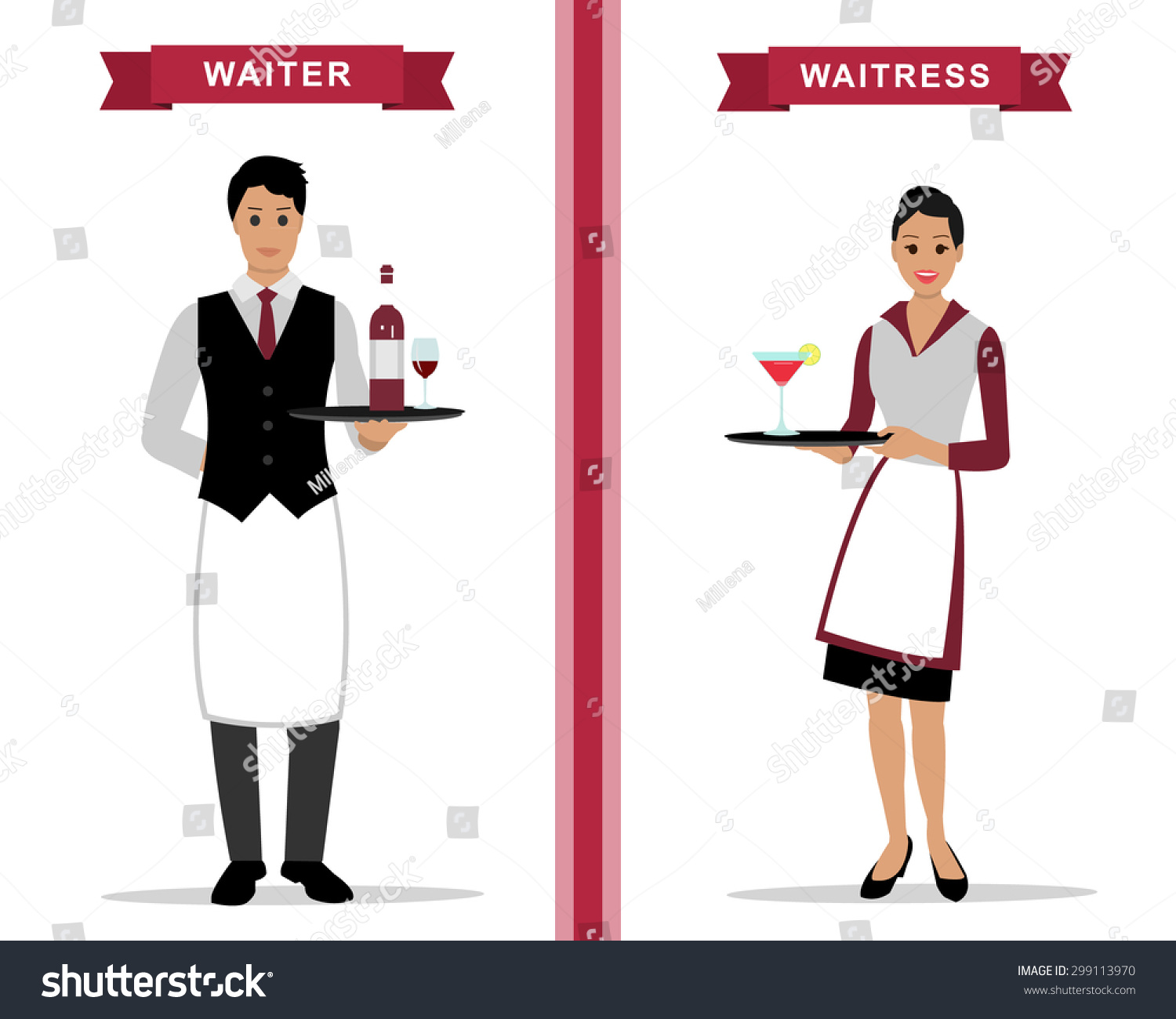 Waiters and waitresses clipart image royalty free library Collection of 14 free Waitress clipart waiteress bill ... image royalty free library