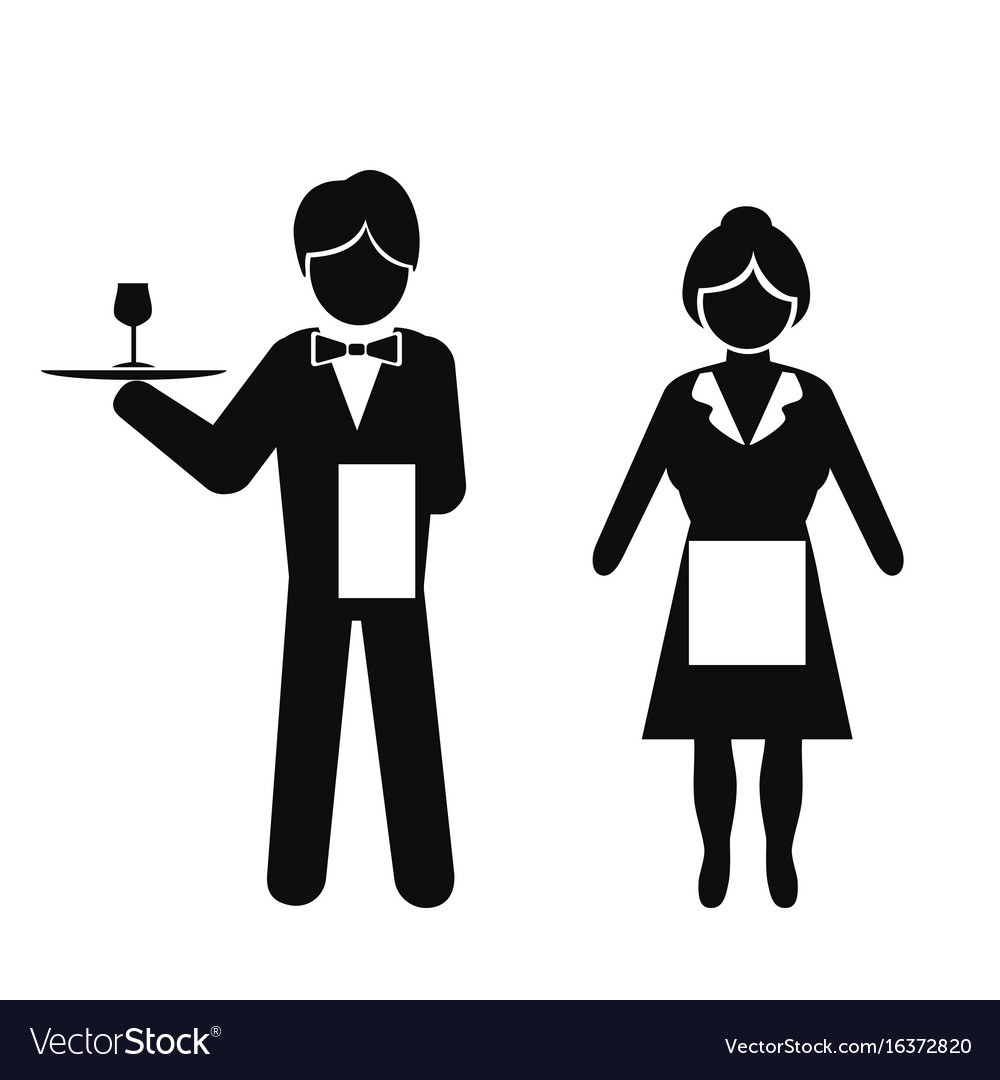 Waiters and waitresses clipart png freeuse Waiter and waitress icon png freeuse