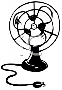 Waiting fans clipart graphic library download drawings of fans | Black and White Drawing of a Vintage Fan ... graphic library download