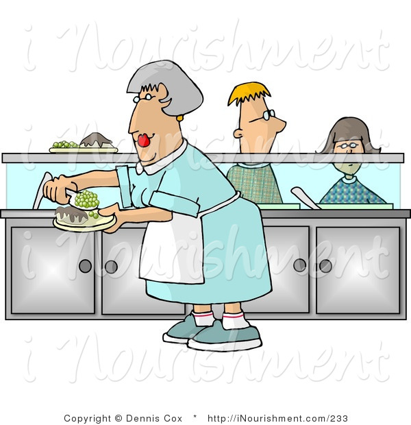 Waiting for food clipart clip art free stock Clipart of a Cafeteria Lady Preparing Plates of Food for School ... clip art free stock