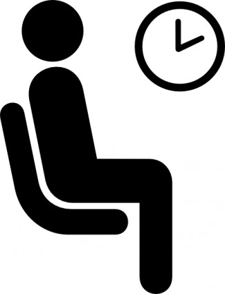 Waiting for food clipart svg freeuse Waiting with clock clipart - ClipartFest svg freeuse