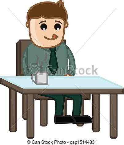 Waiting for food clipart banner transparent stock Vectors of Man Waiting for Food - Drawing Art of Cartoon Young ... banner transparent stock