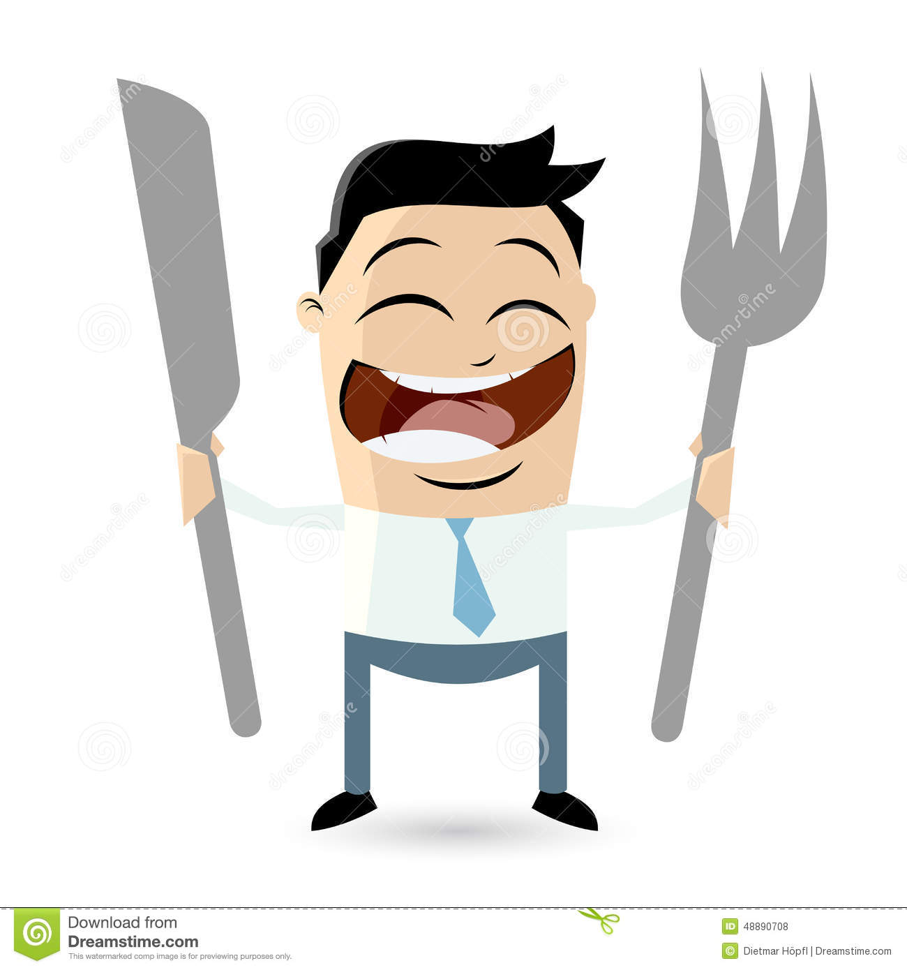 Waiting for food clipart clip free Happy Man Is Waiting For Food Stock Vector - Image: 48890708 clip free