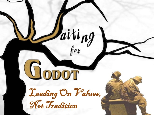 Waiting for godot clipart image royalty free Waiting For Godot - Leading On Values Not Tradition 1 image royalty free