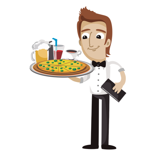 Waiting tables clipart vector library Waiter PNG images free download vector library