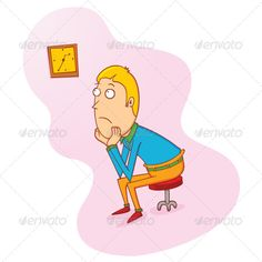 Waiting with clock clipart svg royalty free Back view of a balding man sitting in a chair #back #back-view ... svg royalty free