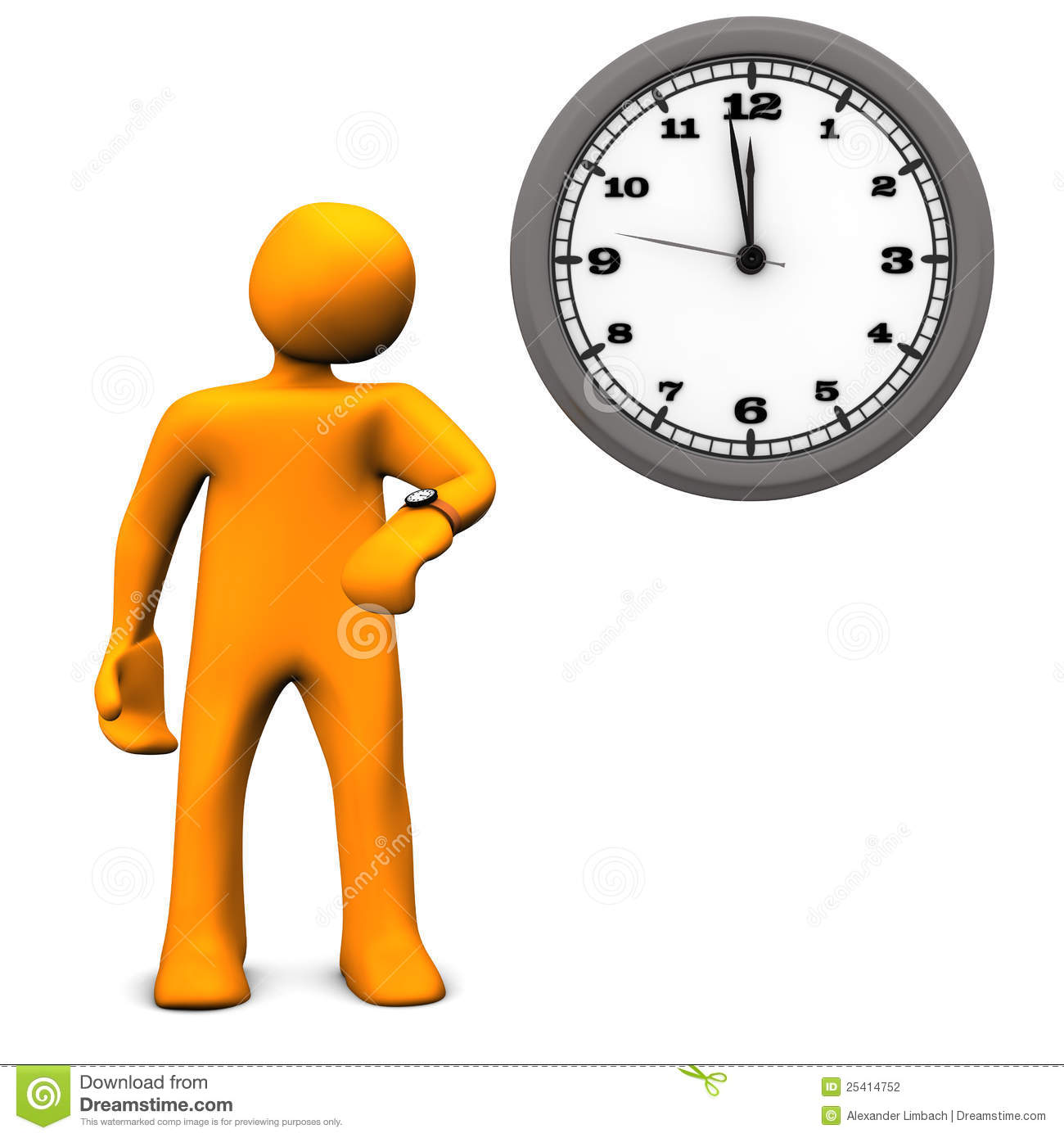 Waiting with clock clipart graphic stock Waiting Time Stock Photography - Image: 25414752 graphic stock