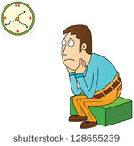 Waiting with clock clipart clipart freeuse download Waiting with clock clipart - ClipartFest clipart freeuse download