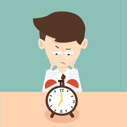 Waiting with clock clipart royalty free library Wait Clip Art, Vector Images & Illustrations - iStock royalty free library