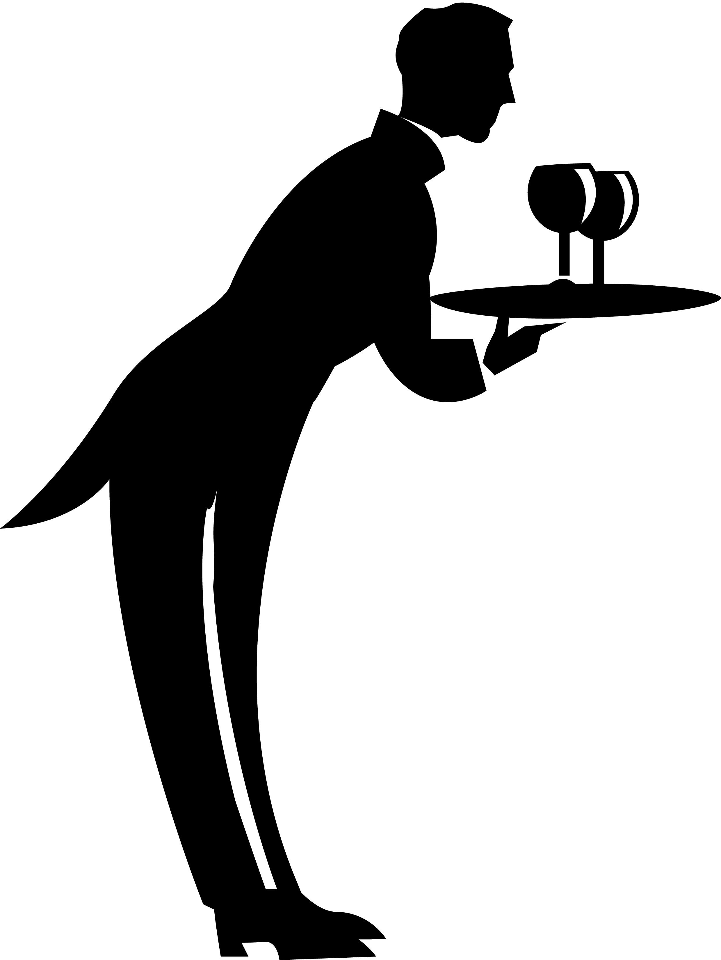 Waitress black clipart funny transparent library Picture Of Waiter | Free download best Picture Of Waiter on ... transparent library