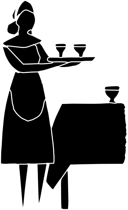 Waitress black clipart funny stock Free Clipart of Waiters, Waitresses and Bartenders stock