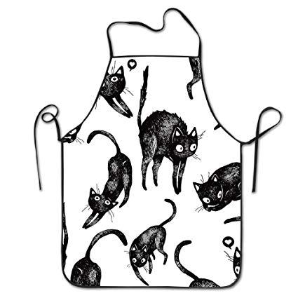 Waitress black clipart funny svg transparent download Amazon.com: GOOESING Funny Design Apron Lazy Cats Stretch ... svg transparent download