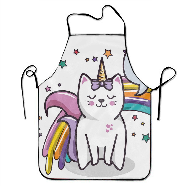 Waitress unicorn clipart jpg freeuse stock Amazon.com: FnLiu Cute Cat Unicorn Aprons Waitress Aprons ... jpg freeuse stock