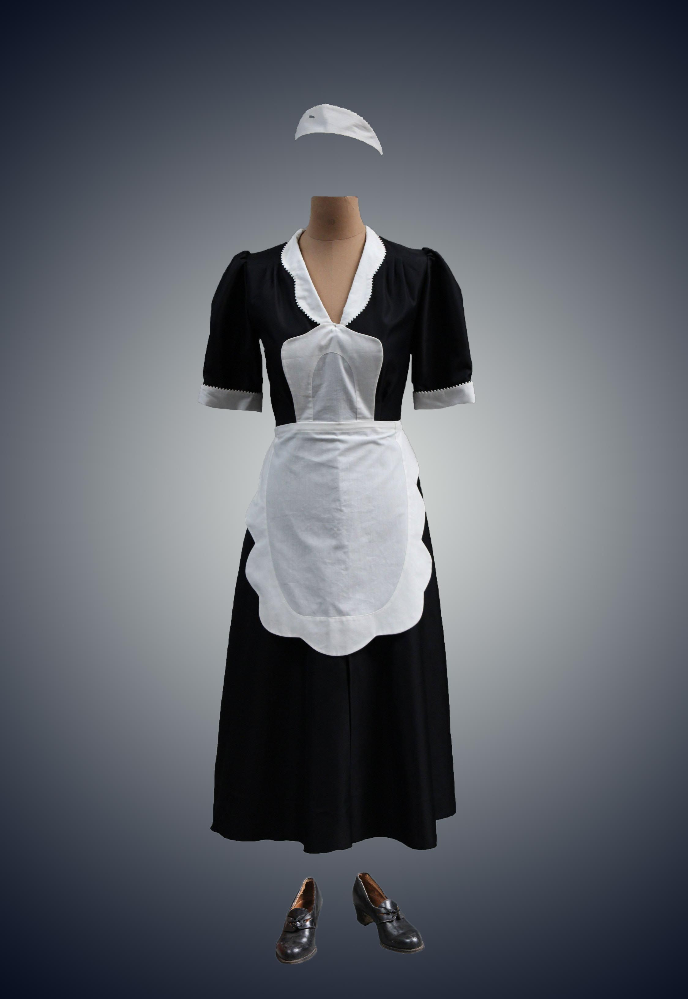 Waitress unifroms in 1940 clipart svg stock French Maid 1940s. Femme de chambre, années 40 | THE MAIDS ... svg stock