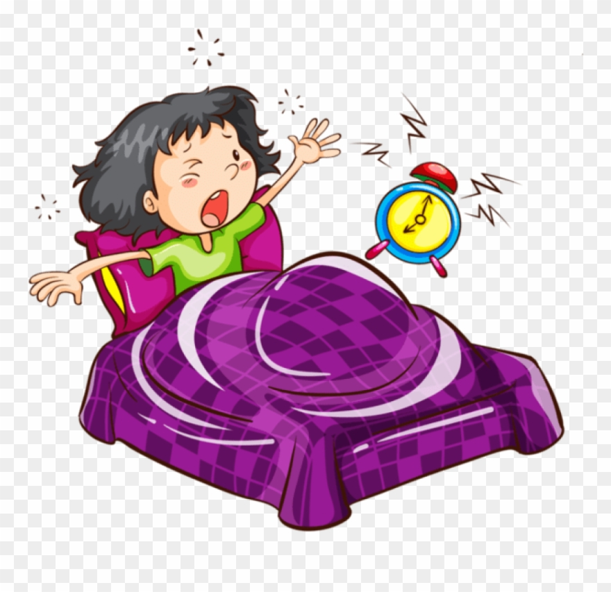 Wake up clipart girl clip art Free Png Download Cartoon Images Waking Up With Alarm - Girl ... clip art