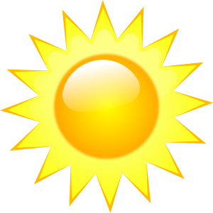 Wake up sunshine clipart banner library library Weather Symbols Clip Art from Clker.com - The online royalty ... banner library library