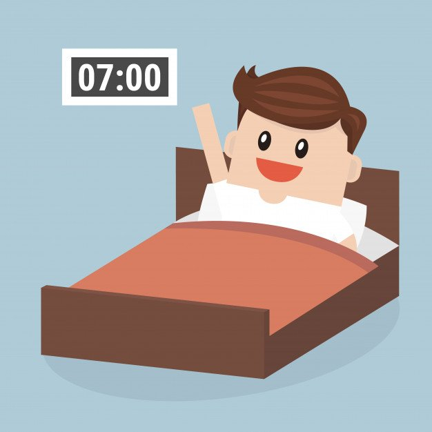 Waking up at 7am clipart banner freeuse download Highly Effective Habits // How To Be Successful // PART I ... banner freeuse download