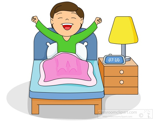 Waking up at six clipart picture free download My daily life picture free download