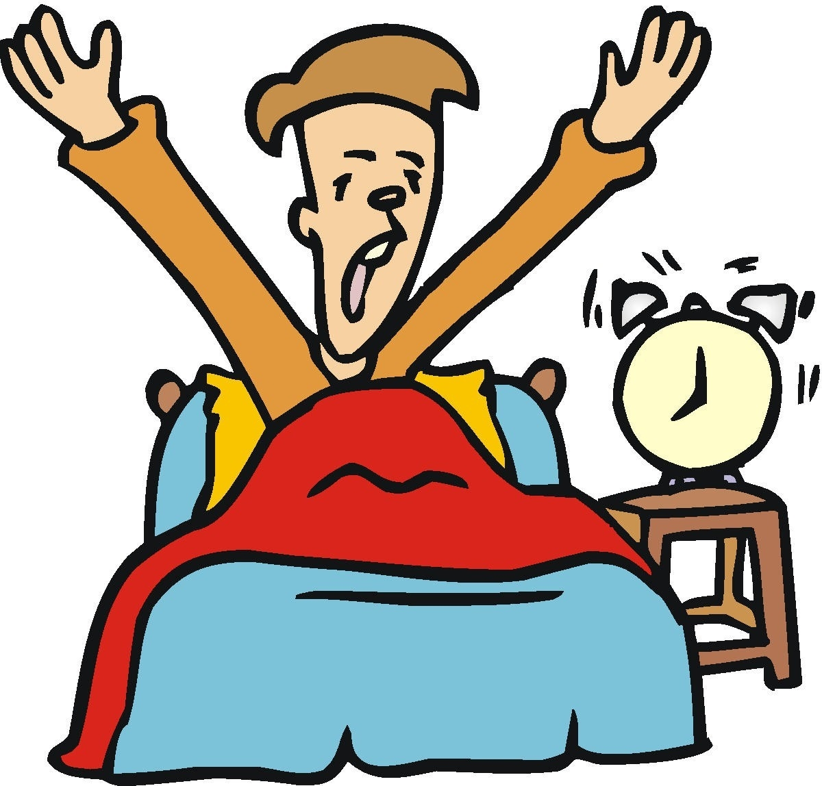 Waking up in bed clipart vector freeuse stock Waking Up In Bed Clipart pertaining to Boy Getting Out Of ... vector freeuse stock
