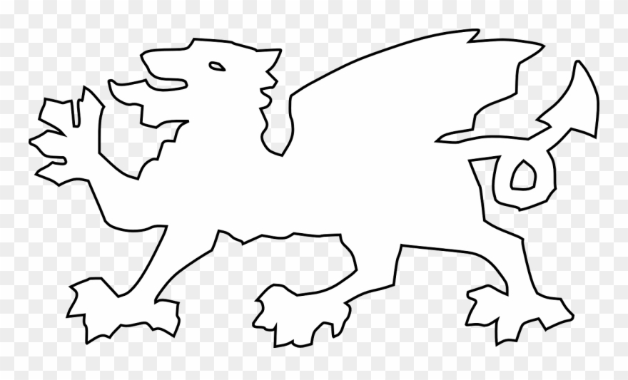 Wales clipart black and white png transparent stock Dragon Coat Of Arms Welsh Clipart (#1808668) - PinClipart png transparent stock