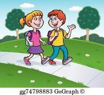Waling home clipart clip library stock Walking home from school clipart 8 » Clipart Portal clip library stock