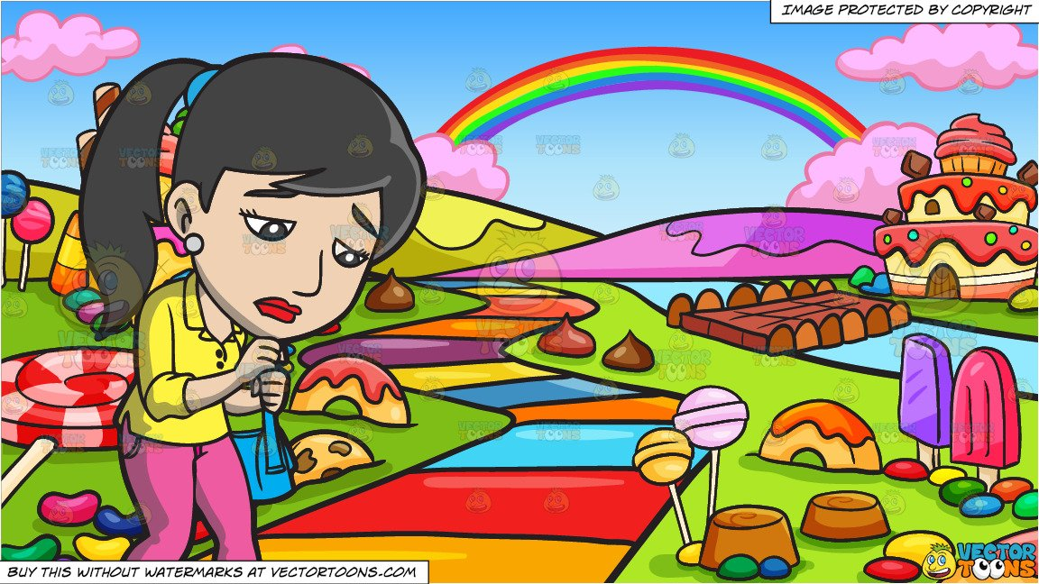 Waling home clipart svg free download A Sad Woman Walking Home and A Candy Land Background svg free download