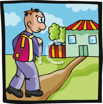 Waling home clipart jpg free stock Walking home clipart 1 » Clipart Portal jpg free stock