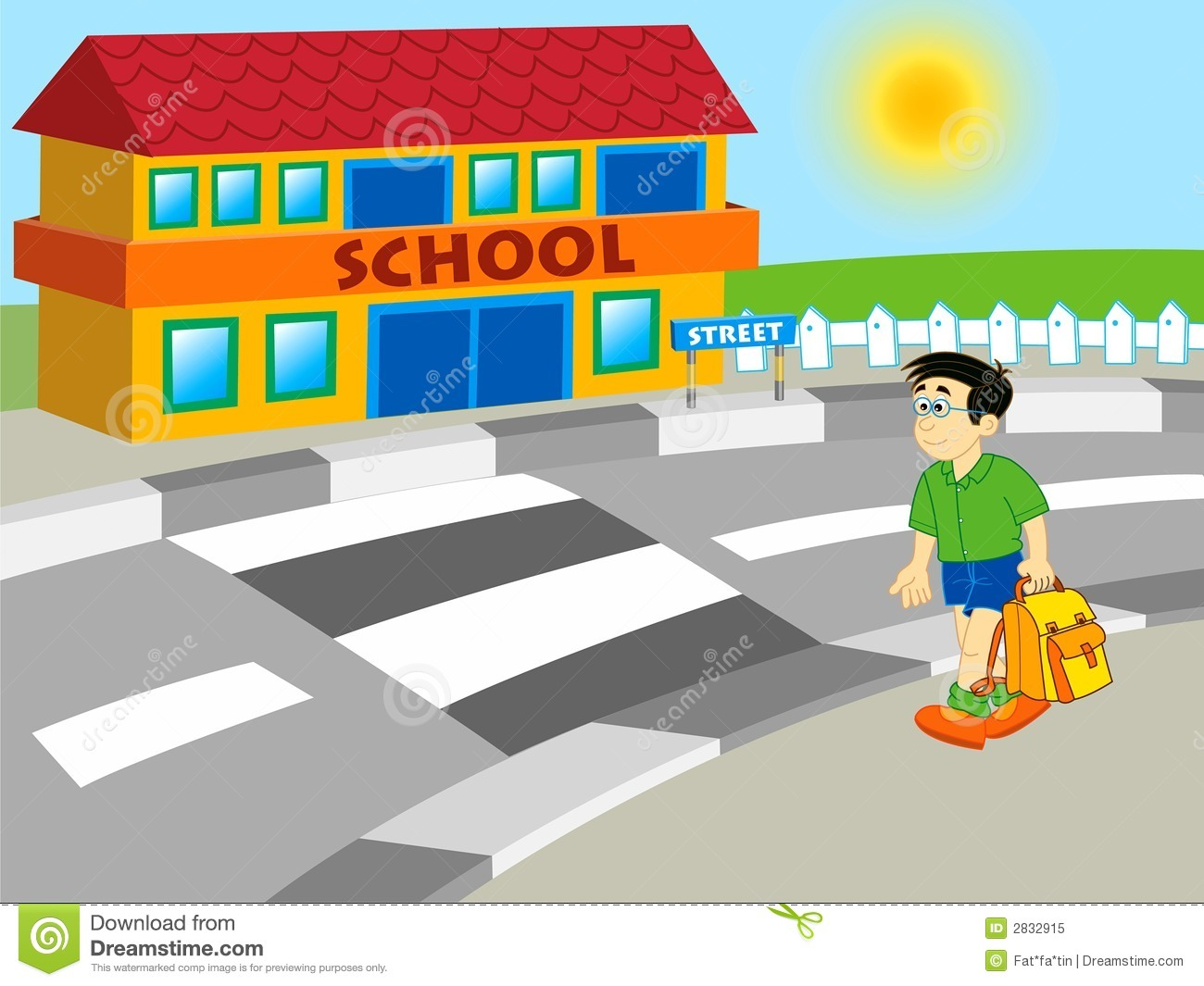Walk around school clipart picture transparent download Walk to school clipart 4 » Clipart Station picture transparent download