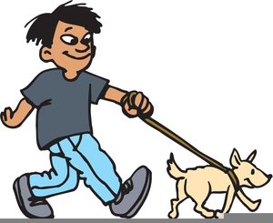 Walk dog free clipart clip art black and white Dog Walk Clipart | Free Images at Clker.com - vector clip ... clip art black and white