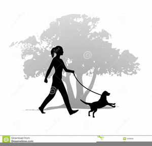 Walk dog free clipart picture transparent library Clipart Of Girl Walking Dog | Free Images at Clker.com ... picture transparent library