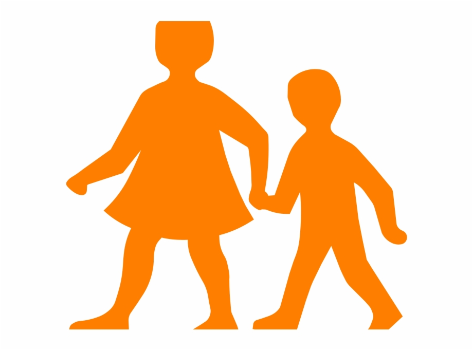 Walk holding hands clipart graphic black and white stock Children Holding Hands - Children Walking Clip Art ... graphic black and white stock