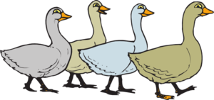 Walk in line clipart freeuse stock Geese Walking In A Line Clip Art at Clker.com - vector clip ... freeuse stock