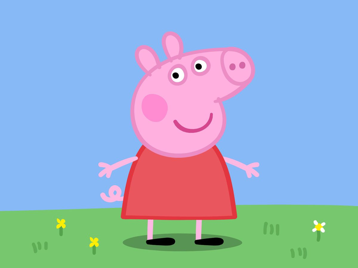 Walk into a mirror clipart clipart transparent stock Peppa Pig\'s terrifying \'front face\' has finally been ... clipart transparent stock