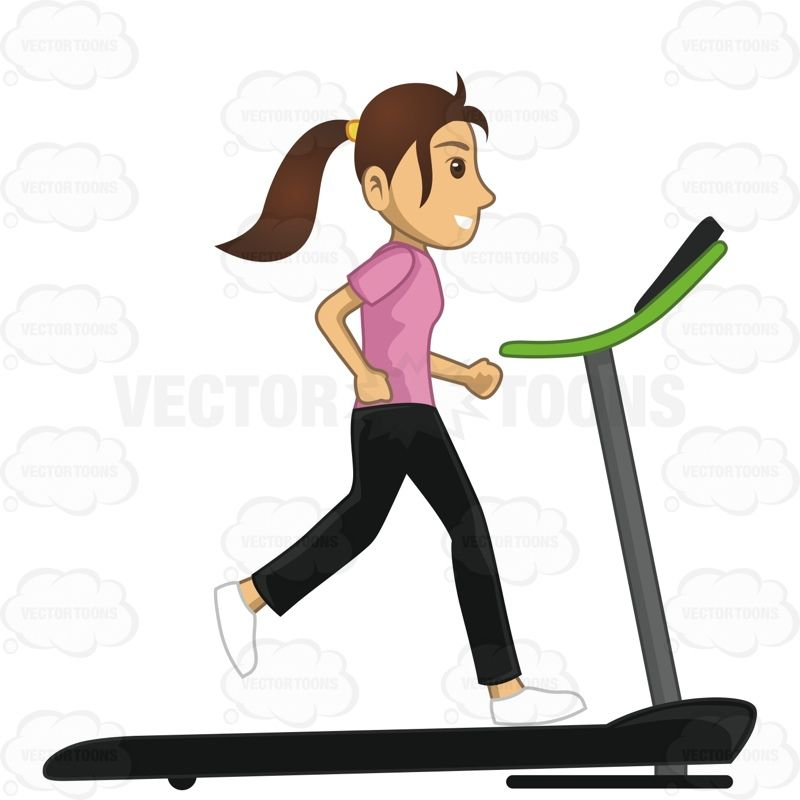 Walk on treadmill clipart picture free download Woman Running On A Treadmill #activity #discipline #exercise ... picture free download