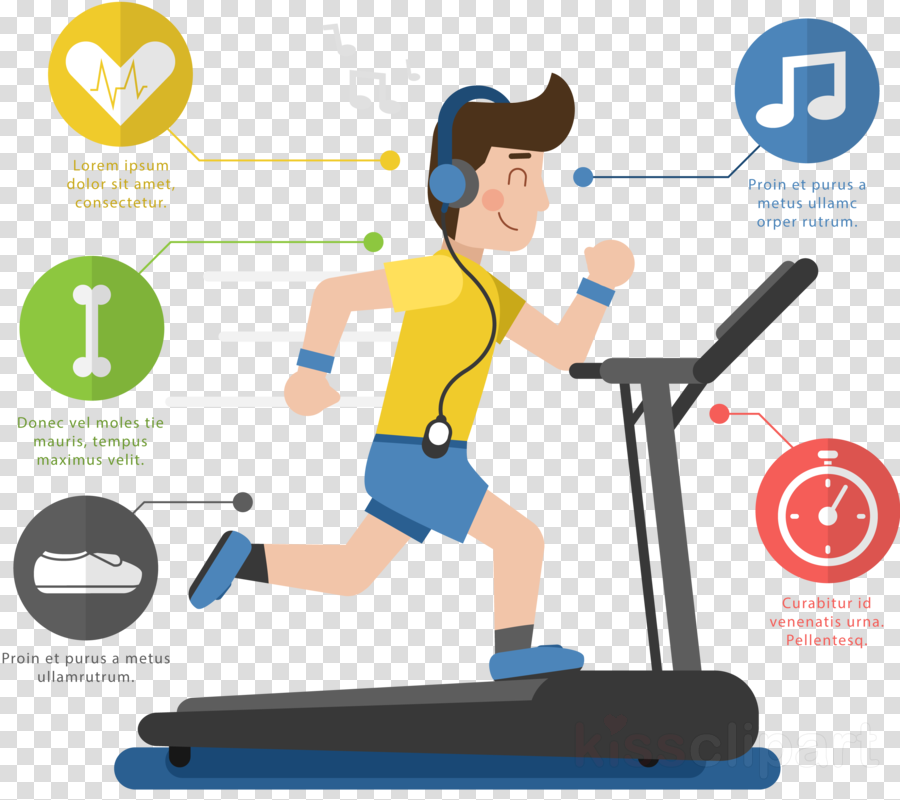Walk on treadmill clipart picture free stock Fitness Cartoon clipart - Exercise, Product, Line ... picture free stock