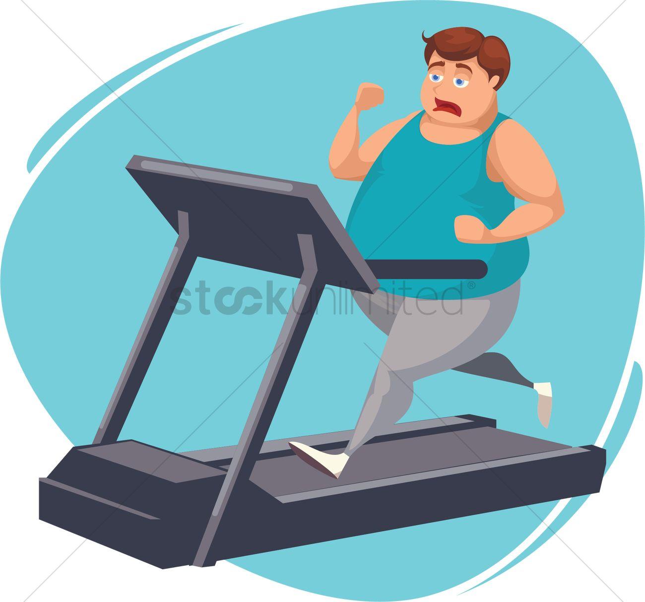Walk on treadmill clipart svg free download Fat man running on treadmill Vector Image - 2021157 ... svg free download
