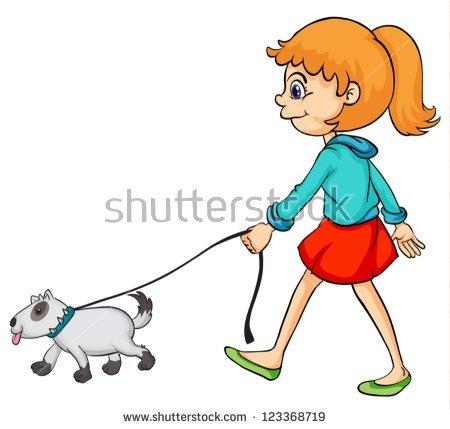 Walk the dog clipart vector stock Girl Walk Stock Vectors & Vector Clip Art | Shutterstock vector stock