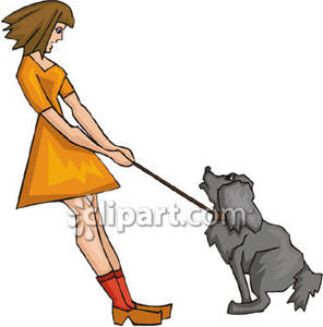 Walk the dog clipart png black and white stock Clipart picture of walking dog - ClipartFest png black and white stock