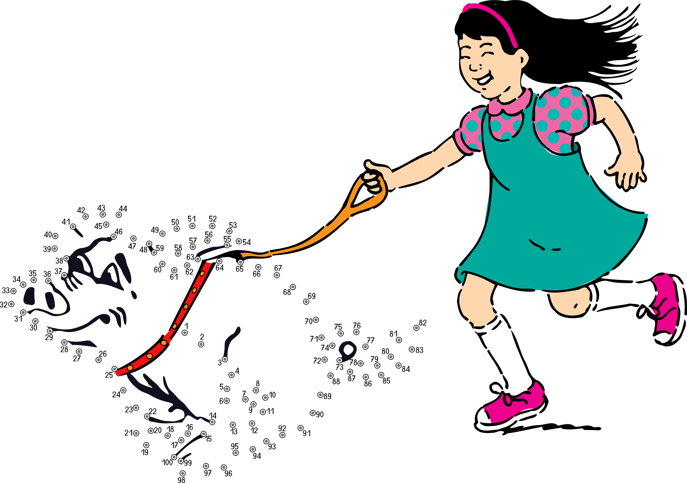 Walk to school clipart svg transparent download Clipart - connect the dots -
