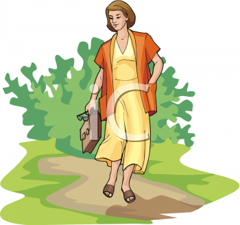 Talking a walk clipart image transparent stock Summer Clip Art Picture of a Businesswoman Talking a Walk on ... image transparent stock