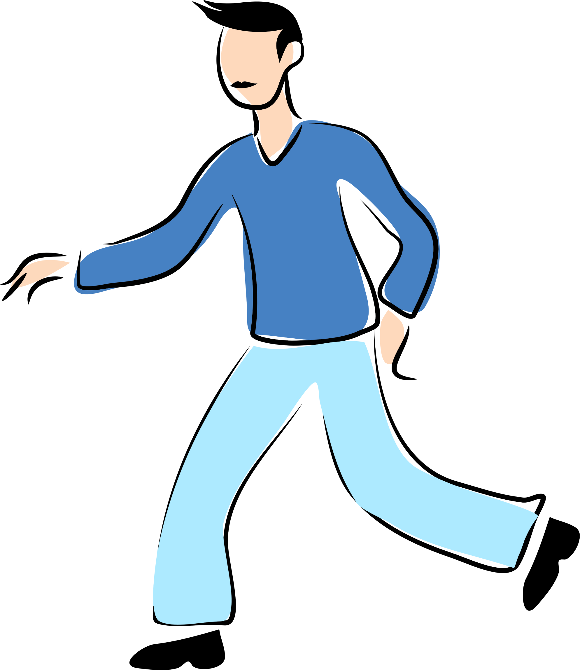 Walking alone clipart vector royalty free stock Free Man Walking Cliparts, Download Free Clip Art, Free Clip ... vector royalty free stock