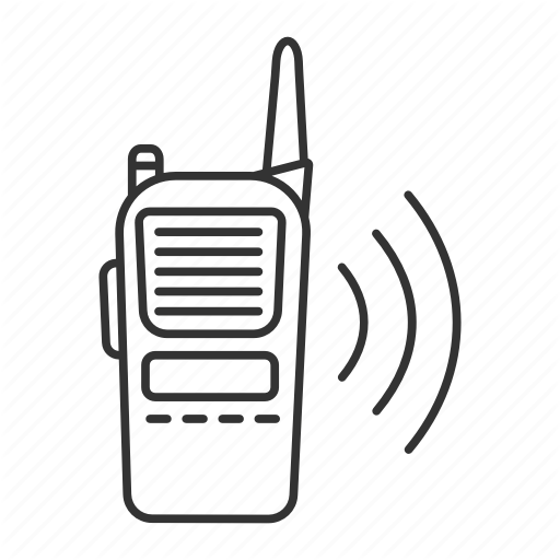 Walkie talkie image clipart picture transparent stock \'Ski. Linear. Outline\' by bsd studio picture transparent stock
