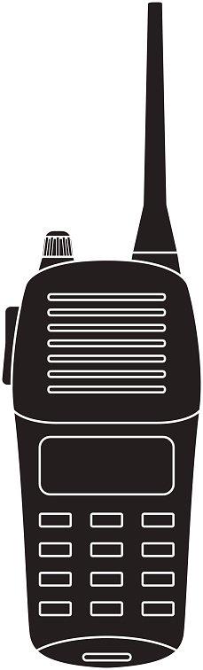 Walkie talkie radio clipart royalty free stock Walkie Black Portable Radio Transceiver premium clipart ... royalty free stock