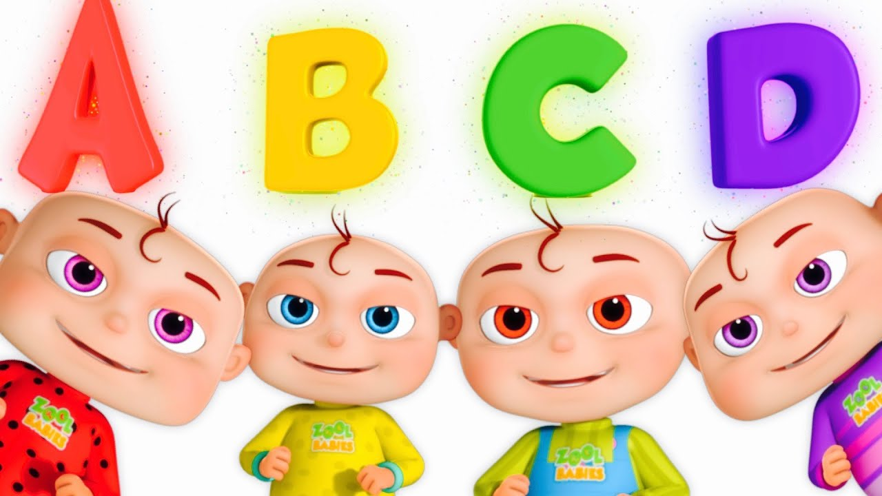 Walking abc clipart clip royalty free library Five Little Babies Opening Surprise Eggs   ABC For Children   Phonics Song  By Zool Babies clip royalty free library