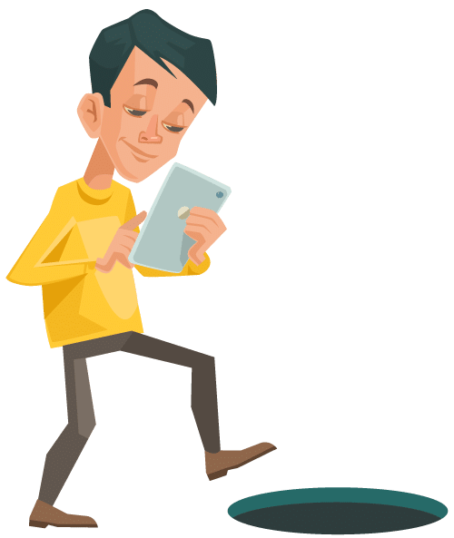Walking and texting accidents clipart png Texting And Driving Statistics In America™ // 2019 png