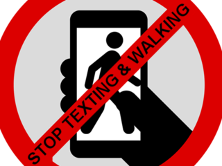 Walking and texting accidents clipart graphic black and white library Zachar Law Blog - Texting And Walking: How Dangerous Can It ... graphic black and white library
