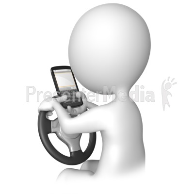 Walking and texting accidents clipart banner Texting Behind The Wheel - Presentation Clipart - Great ... banner