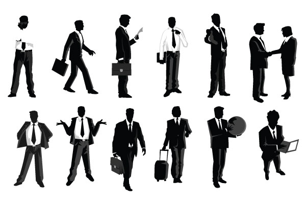 Walking businessman clipart vector free stock Businessman walking silhouette clipart - People clip art ... vector free stock
