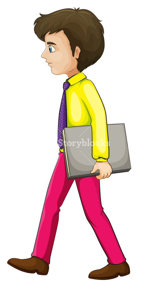 Walking businessman clipart jpg library download Illustration of a businessman walking seriously while ... jpg library download